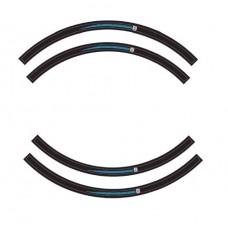 Wheel rim sticker kit